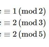 線形合同式の解き方、中国式剰余定理とは何か