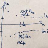 数列の上極限・下極限(limsup,liminf)の例、性質